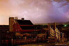 Red Barn On The Farm and Lightning Thunderstorm (Striking Photography by Bo Insogna) Tags: summer sky storm nature windmill weather night rural skyscape landscapes colorado skies seasons forsale farm longmont barns scenic silo monsoon strike farms homestead lightning openspace lightening storms agricultural thunderstorms severeweather redbarns stormchasers supercell ranches cattlerun bouldercounty thelightningman coloradoweather agriculturalheritagecenter lohrmcintoshfarm mcintoshfarm