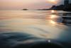Brighton evening swim (lomokev) Tags: sea sun reflection water evening nikon brighton dof kodak depthoffield westpier goldenhour nikonos nikonosv nikonos5 kodakektar100 nikonosfive file:name=130723nikonosektar03 roll:name=130723nikonosektar