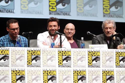 Bryan Singer, Hugh Jackman, Patrick Stewart & Ian McKellen