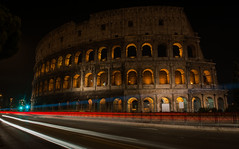 passed (nardell) Tags: longexposure travel italy rome roma history tourism italian tourist colosseum passed past colosseo antiquity lightstreaks historicalsites romanhistory romancolosseum travelphotos redgreenwhite italiancolors