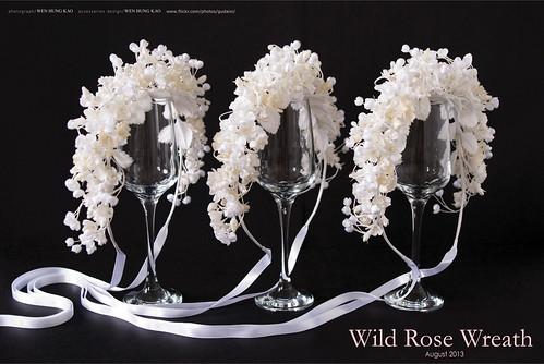 訂製系列-野玫瑰花環花飾(無染色)