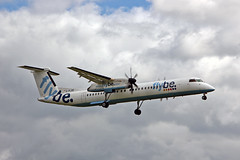 G-FLBE DHC-8Q 402 Flybe MAN 10-08-13 (PlanecrazyUK) Tags: man manchester egcc flybe dhc8q402 gflbe