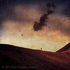 dream territory (Dyrk.Wyst) Tags: light red sea sky cloud man rot texture monochrome birds horizontal square stars landscape rouge person licht spring meer mood moody path fineart surreal himmel atmosphere manipulation hike ash dreamy hiker abstraction unreal minimalism conceptual vgel lapalma landschaft range canaryislands oneperson stimmung weg frhling sterne composing grat kanarischeinseln unwirklich asche textur creativephotography wole photoshelter society6 dyrkwysttextures