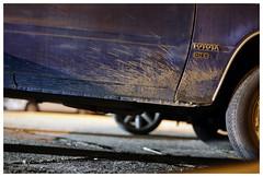 Santa Cruz, 2013 (Michael Ast) Tags: california ca santacruz tires dirt toyota cardoor mudsplash