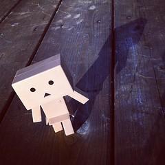 Shadow (astrosnik) Tags: shadow square robot mini cardboard squareformat hudson kit yotsuba danbo danboard cardbo iphoneography instagramapp uploaded:by=instagram