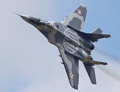 Fulcrum (Bernie Condon) Tags: tattoo plane flying fighter aircraft aviation military jet poland warplane fairford riat mig29 airtattoo fulcrum 2013