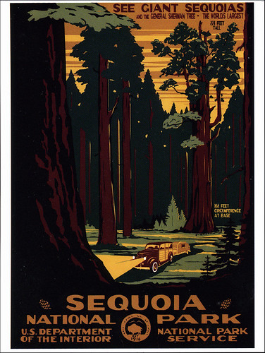 postcard - Sequoia National Park poster
