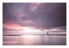 Rekindled (A-D-Jones) Tags: ocean sea sun seascape water set clouds liverpool landscape coast movement long exposure dusk magenta violet marker ripples beacon crosby merseyside sefton