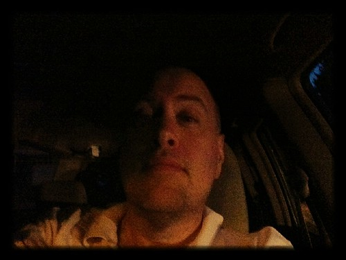 Day 569 - Day 203: At dusk, in my car