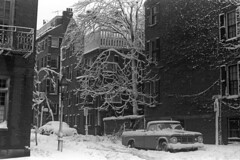 021269 01 (ndpa / s. lundeen, archivist) Tags: trees houses homes winter blackandwhite bw snow storm 1969 film monochrome car boston corner truck 35mm buildings ma blackwhite massachusetts nick snowstorm pickup pickuptruck lamppost intersection 1960s february snowfall blizzard parkedcar beaconhill winterstorm dewolf heavysnow bigsnow coveredinsnow recordsnowfall recordsnow nickdewolf photographbynickdewolf