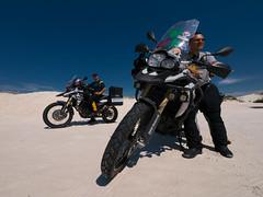 White Sands (Carlows) Tags: color mxico mexico panasonic tormenta bmw desierto mx motorrad gh3 f800gs motoquest panasoniclumixgh3 vueltaaamrica