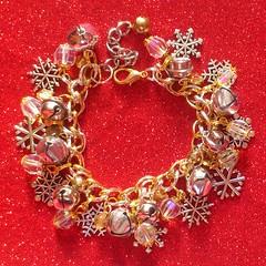 Gold & Silver Bells & Snowflakes Charm Bracelet (Rainbow Mermaid) Tags: christmas handmade craft jewelry charm jewellery bracelet rainbowmermaid
