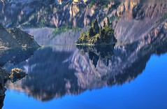 Phantom Ship - Crater Lake (gordeau) Tags: reflection oregon landscape island gordon craterlake phantomship ashby explored unanimous flickrchallengegroup flickrchallengewinner thechallengefactory gordeau
