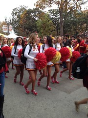(awama) Tags: november football los cheerleaders angeles stanford coliseum usc 2013