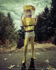 Hazard (LukeOlsen) Tags: usa yellow oregon portland eggs hazmat pw hazmatsuit strobist lukeolsen pdxstrobist wl1600 hazmattop
