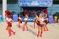 IMG_8887 (grooverman) Tags: plaza game sexy canon eos rebel football nice texas cheerleaders legs boots stadium nfl houston t3 dslr budweiser texans pregame reliant 2013