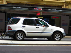 Long-ass trailer! (RS 1990) Tags: november car mercedes 21st adelaide trailer suv thursday southaustralia 2013 longass grenfellst