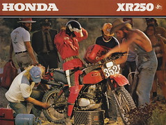 1979 Honda XR250 (Rickster G) Tags: pictures classic vintage honda ads photo flyer image photos picture motorcycles literature oldschool sl trail photographs 350 photograph motorcycle 70s dirtbike collectible sales brochure rare xl xr 250 thumper motorsport enduro dealer 125 twinshock vjm vinduro
