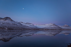 Winter morning in Faskrudsfjordur (*Jonina*) Tags: morning winter moon mountains reflection iceland sland 1000views vetur speglun fjll 10000views 3000views 100faves 50faves 6000views morgunn explored 200faves 12000views tungli 9000views 25faves fskrsfjrur 11000views 300faves faskrudsfjordur 13000views jnnagurnskarsdttir