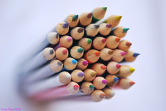 White (Tony Dias 7) Tags: white color macro pencils dof objects coloured shart