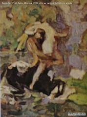 Romualdo Prati Ratto d'Europa (1910) olio su cartone Collezione privata