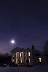 Stars Above (Joshua Siniscal Photography) Tags: new york sky ny nature night canon stars mansion t3i