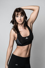 sabrina~fitness test (Teri Hofford Photography) Tags: woman girl beauty model exercise muscle figure strong strength fitness abs weights