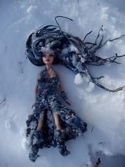"""""""Winter"""" - My Scene Chelsea doll ooak (Medithanera) Tags: blue winter snow wool hair doll chelsea ooak barbie scene custom mattel my"""