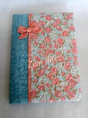 Capa de caderno (Zion Artes por Silvana Dias) Tags: quilting patchwork caderno capadecaderno zionartes