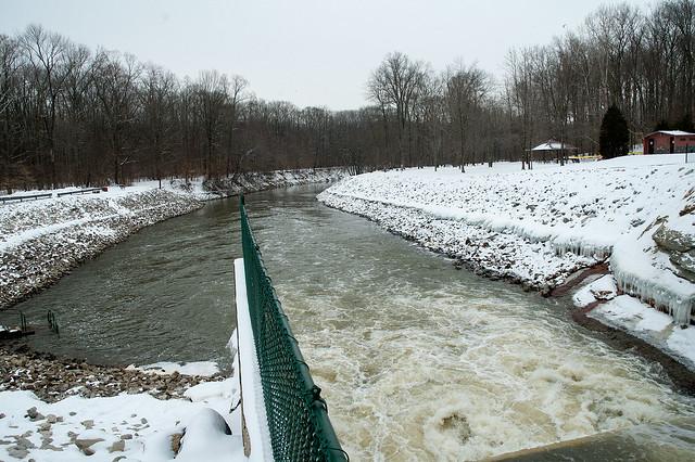 Lake Monroe Dam - Salt Creek - February 15, 2014