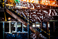 Upstairs (Thomas Hawk) Tags: california usa graffiti unitedstates unitedstatesofamerica eastbay alameda fav10 charliblake