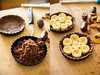 Assembling Jungle Pie (Yack_Attack) Tags: food pie dessert photography vegan emily raw coconut von banana foodporn vegetarian easy paleo cacao glutenfree euw