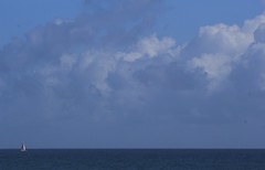 At Sea (Gay Foster) Tags: ocean clouds sailboat perspective bluesky photostream smallness