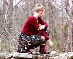 rain (Thedrawingmannequin) Tags: red up leather fashion yellow sweater boots hiking lace skirt leopard lucky cropped brand booties laceup
