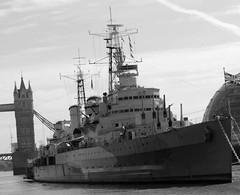 HMS Belfast (AlanF58) Tags: london thames towerbridge sailing ship hmsbelfast ww2 battleship ww1 unionjack toweroflondon warship rn hms royalnavy scharnhorst museumship
