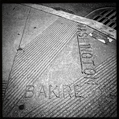 """Bakre"" Street at Washington Street (throgers) Tags: sanfrancisco california concrete washington baker sidewalk mistake typo curb sidewalktypo bakre uploaded:by=flickrmobile flickriosapp:filter=nofilter"