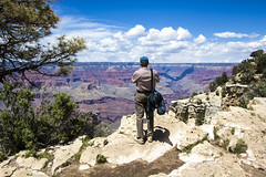Standing on the South Rim of the Grand Canyon near the El Tovar Hotel (lhboudreau) Tags: arizona clouds america nationalpark rocks grandcanyon canyon redrocks southrim grandcanyonnationalpark 2015