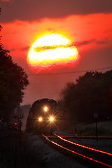 Great Balls Of Fire (sdl39hogger) Tags: sunset wisconsin canadianpacific cp ge generalelectric gevo geevolution ixonia watertownsub cefx1019