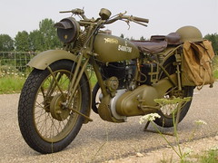 "Fully restored British Army WWII Norton 16H • <a style=""font-size:0.8em;"" href=""http://www.flickr.com/photos/81723459@N04/19508758622/"" target=""_blank"">View on Flickr</a>"