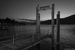 Pontile nutturno bn (roby22-1-1950) Tags: