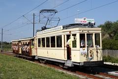 TTO Tramcar N 9985 with two open carriages. (Franky De Witte - Ferroequinologist) Tags: de eisenbahn railway estrada streetcar tramway chemin fer strassenbahn spoorwegen ferrocarril ferro ferrovia     tramlijn