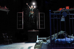 Jenn Colella as Peter Pan in Peter Pan, produced by Music Circus at the Wells Fargo Pavilion July 21-26, 2015. Photo by Charr Crail.