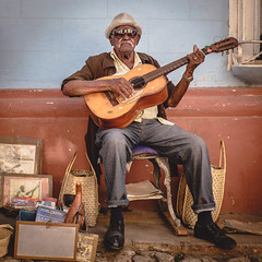 The Cuban Guitar Man (Patberg) Tags: street old musician man cuba trinidad