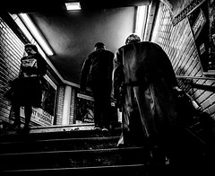 Underground.jpg (Klaus Ressmann) Tags: klaus ressmann omd em1 fparis france peopleindoor subway winter blackandwhite candid contrast flcpeop staires station streetphotography unposed klausressmann omdem1