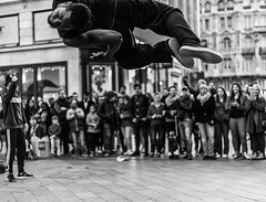 Falling to Earth (Peter Murrell) Tags: breakdance dancing streetphotography bboys streetentertainers breakdancers flying