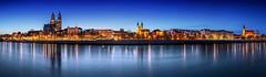 Magdeburg Skyline Panorama (FH | Photography) Tags: magdeburg skyline panorama elbe sachsenanhalt stadt blauestunde abends ufer himmel kirchtürme dom promenade wasser deutschland europa landeshauptstadt elbufer magdeburgerdom urban fürstenwall kirchen historisch altstadt