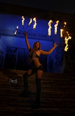 Anna Dazzling's fire performance - full body portraits (SpirosK photography) Tags: spiroskphotography sanatorio parnitha athens greece αθήνα ελλάδα σανατόριο abandoned back faceless fire fireshow fireperformer fireperformance annadazzling anjadazzling fullbody portrait