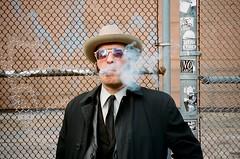 Delancey Street, New York City (ohsnail_s) Tags: portra400 portrait film filmphotography street streetphotography streetphoto streetstyle cigar lowereastside nyc analog olympus35rc chops
