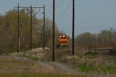 Returning light (Tom Trent) Tags: pnwr portlandandwestern railroad rail locomotive diesel emd gp392 lanecounty junctioncity lightpower willametteriver oregon