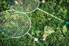 Badminton (Zeljko Stjepanovic) Tags: grass flowers badminton racquets shuttlecock birdie game summer green